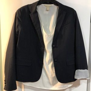 GAP Navy lined academic blazer size 8 women's